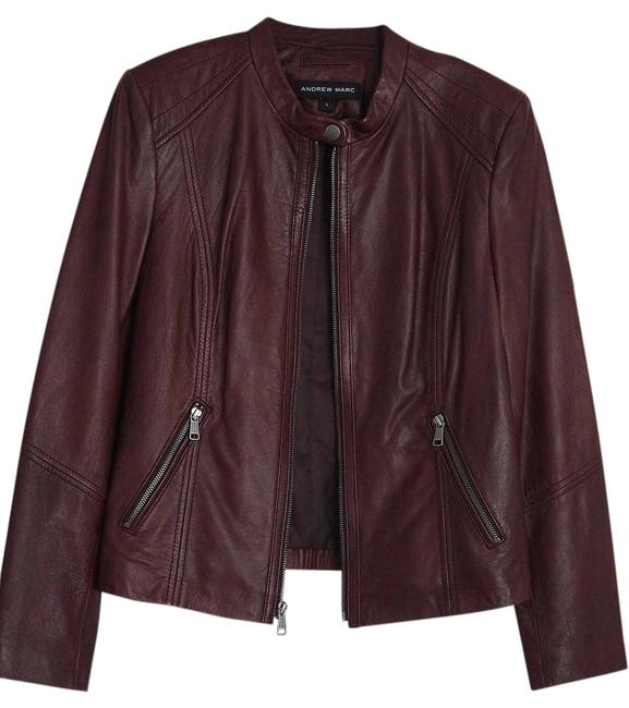 Item - Brown and Plum Large Moto Jacket Size 14 (L)