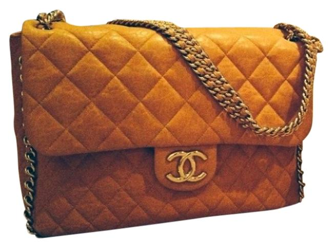 Chanel Chain Around Tan Lambskin Leather Shoulder Bag Chanel Chain Around Tan Lambskin Leather Shoulder Bag Image 1