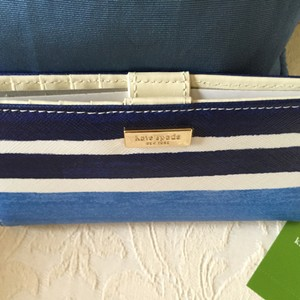 Kate Spade grant street capri striped grainy leather stacy wallet