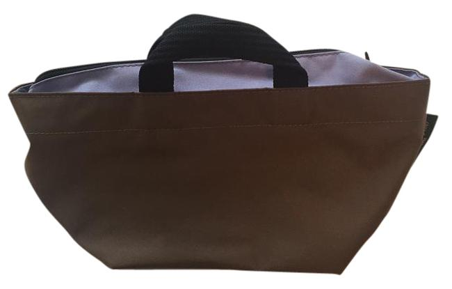 Item - Bag Small Two-tone Brown and Purple Nylon Tote