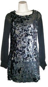 Audrey Sequin Sheath Long Sleeve Holiday Party Dress