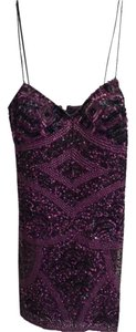 Aidan Mattox Sequins Cocktail Formal Evening Dress