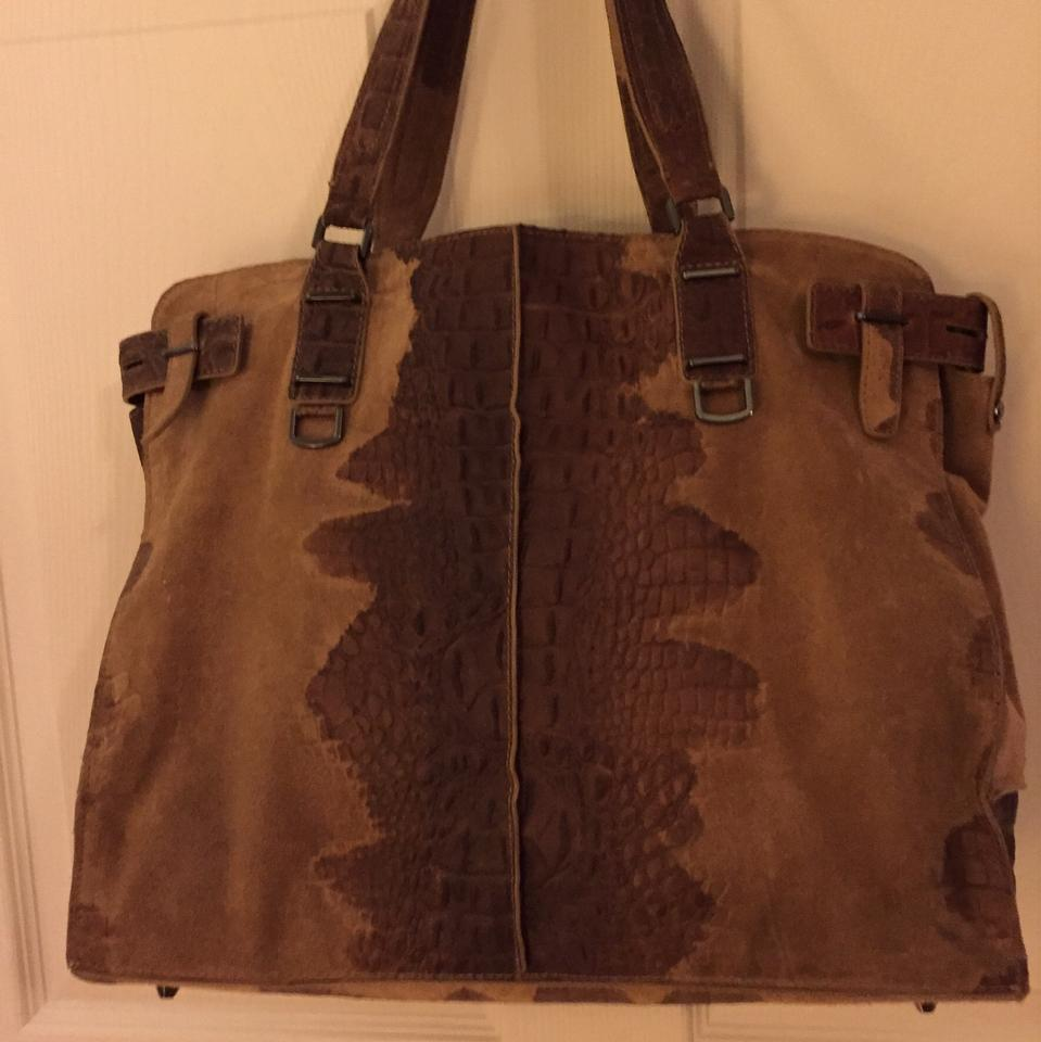 10 Bag Taupe Print Tags Croc Still Off Leather Kooba In Tote UcBqCdUn