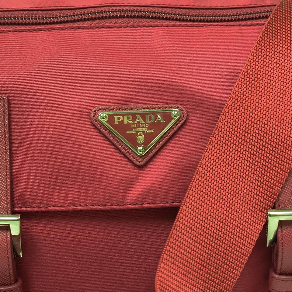 real prada sneakers for cheap - Prada Tessuto Pattina Nylon And Leather Messenger Red Cross Body ...