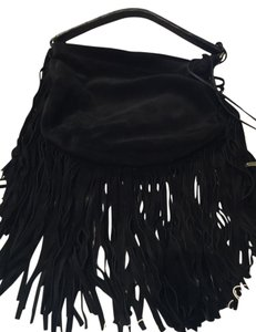 Stuart Weitzman Exquisite Suede Fringed Hobo Bag