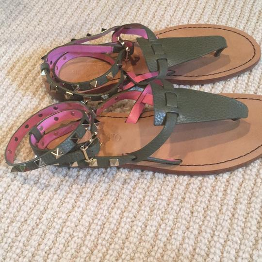 Valentino Army/pink Sandals Image 1