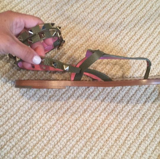 Valentino Army/pink Sandals Image 3