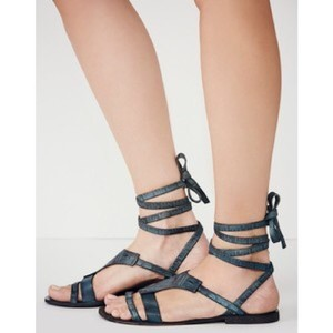 Free People Teal Sandals
