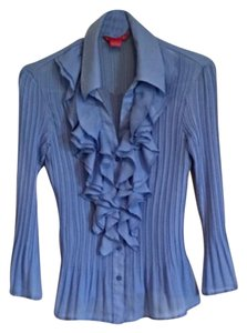 Sunny Leigh Button Down Shirt Blue