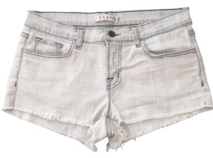 J Brand Cut Off Shorts Light grey/white