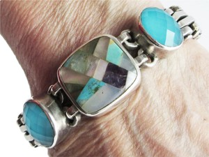 Stephen Dweck STEPHEN DWECK MOP, Turquoise, Amethyst, Sterling Silver Toggle