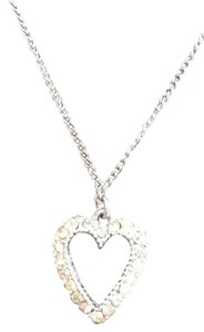 20 Inch Silver Chain with Diamond Heart Pendant