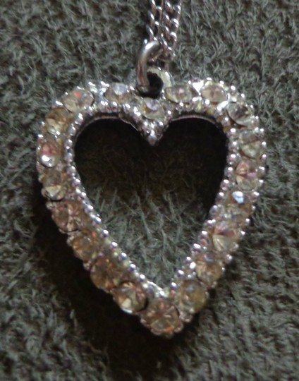 Other 20 Inch Silver Chain with Diamond Heart Pendant