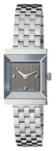 Gucci Ladies G-Frame Anthracite Guilloche Dial YA128403