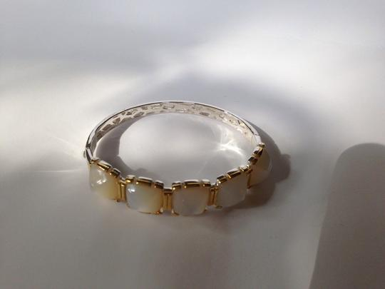 Kara Ross KARA ROSS AUTHENTIC NWT 18K GOLD & STERLING SILVER WITH MOTHER OF PEARL BANGLE Image 2