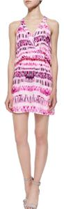 Parker short dress Pink Racer-back Thin Straps V-neck Silk on Tradesy