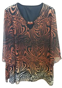 & Other Stories Top Black w/ Rust