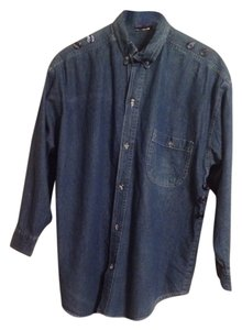 Global Generation Button Down Shirt Blue