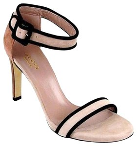 Gucci Suede Sandal Wankle Strap Pink Sandals