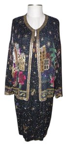 Together Beaded Sequined Vintage Art Deco Cruise Dress