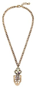 Other Gold Chain Iridescent Crystal Pendant Necklace