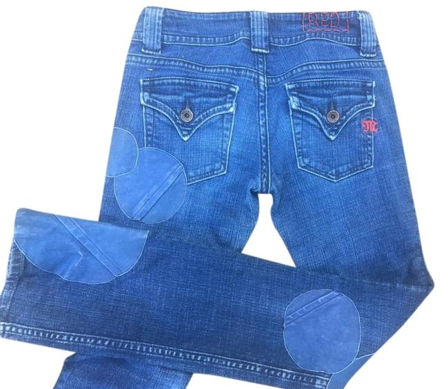 Preload https://img-static.tradesy.com/item/15998644/miss-me-medium-washdark-wash-vintage-1990s-straights-leather-patch-accents-sz25-excellent-straight-l-0-39-650-650.jpg
