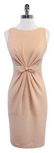 Badgley Mischka short dress Light Pink Sleeveless on Tradesy