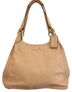 Coach Leather Satchel in CREAM