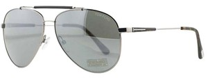 Tom Ford New FT0378 14Q - shiny light ruthenium / green mirror Metal