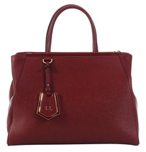 Fendi Fi.k0420.11 Red Saffiano Vitello Leather Tote