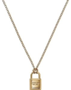 Michael Kors NWT Gold Padlock Necklace MKJ3489710