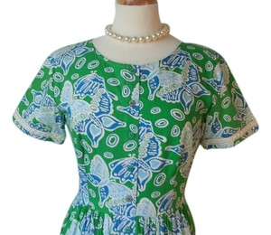 Lilly Pulitzer short dress Green and Blue Vintage Lilly Vintage Pulitzer Vintage on Tradesy