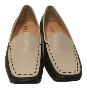 Prada All Leather Topstitching Flats