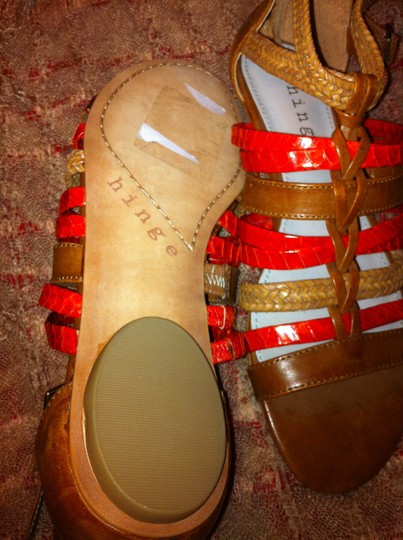 Hinge Red and Brown Sandals