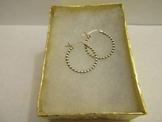 Other Italy 925 sterling silver ball hoop earrings