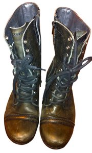 Steve Madden Harllem Leather Lace Up Black Boots