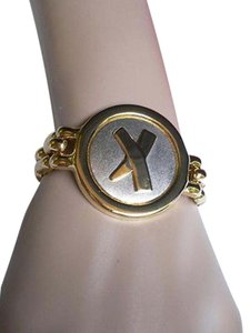 Other Women Men Gold Retro Fashion Bracelet Metal Shield Chains X Circle 80 Style