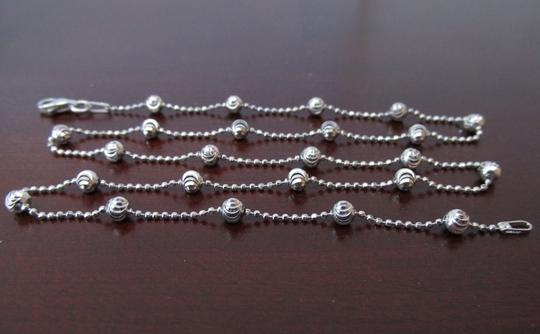Other Italy 925 sterling silver diamond cut beads necklace chain