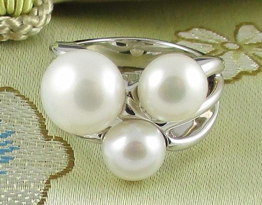 Honora Honora Cultured Freshwater Pearl Cluster Sterling Silver Ring - Size 6 Image 2