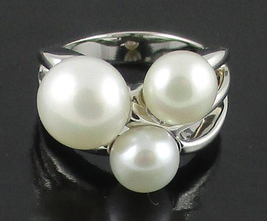 Honora Honora Cultured Freshwater Pearl Cluster Sterling Silver Ring - Size 6 Image 4