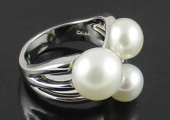 Honora Honora Cultured Freshwater Pearl Cluster Sterling Silver Ring - Size 6 Image 9