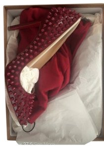Christian Louboutin Spike Dark Red Rouge Pumps