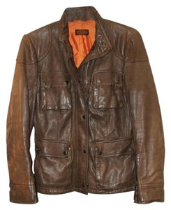 Tod's Light Brown Leather Jacket