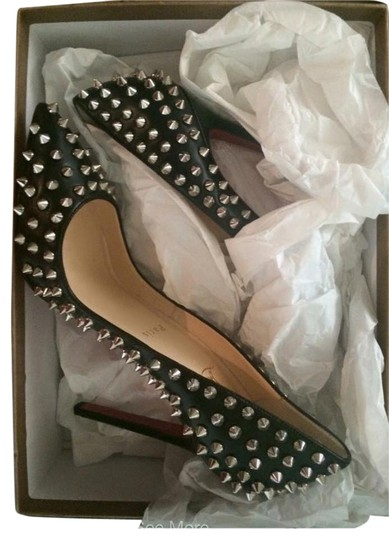 Christian Louboutin Pigalle Louboutins 120mm Black/silver Spikes Pumps