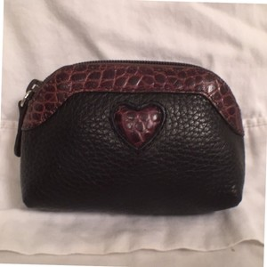 Brighton Coin Purse Leather W/Embossed Croc/Gator