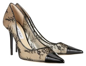 Jimmy Choo Amika Lace Black Pumps
