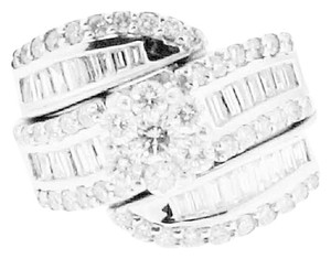 DIAMONDSY Gorgeous - 2 Carats Tw Diamond and 14k white gold ring - Bridal / Right hand