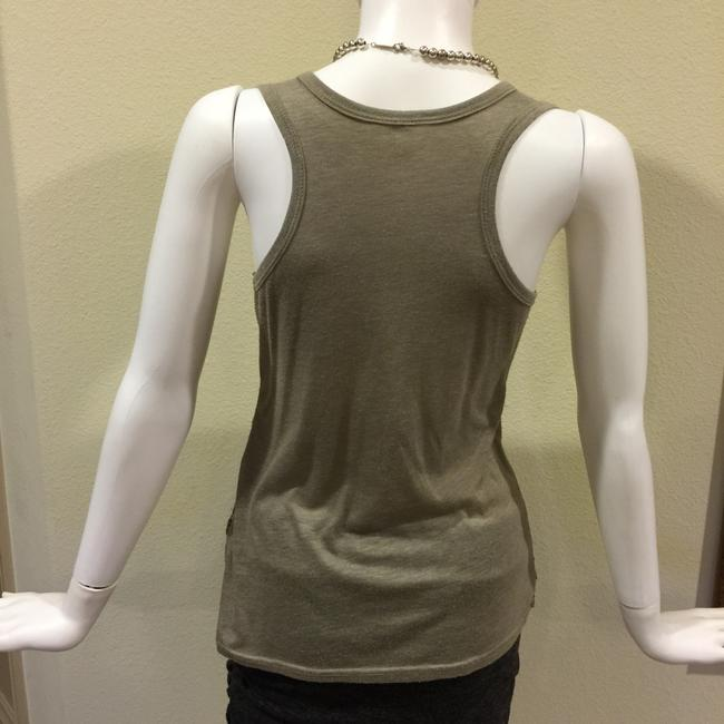 Fossil Sequin Sequins Sequin Sequin Clothing Top Green, Gold, and Silver