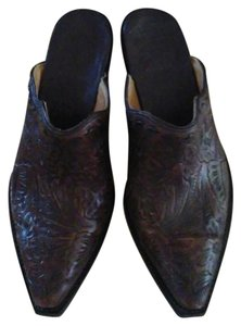 Old Gringo Dark Brown Mules