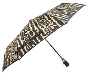 "Coach Coach Ocelot Animal Print 40"" Folding Push Button Umbrella"